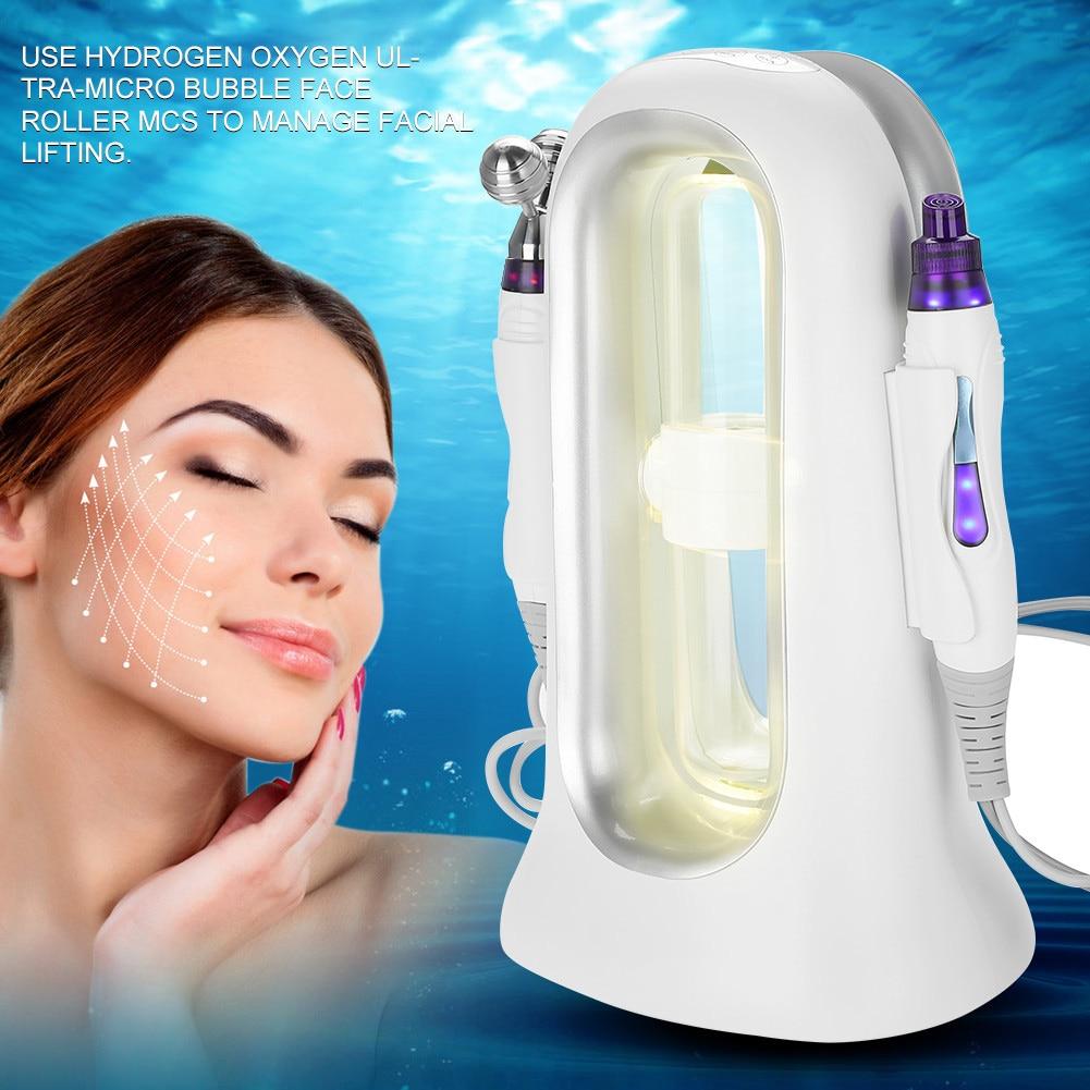 Hydrogen O2 Ultra-Micro Bubble Moisturizing Freckle Beauty Machine Microcurrent Deep Cleansing Skin Instrument Roller Massage