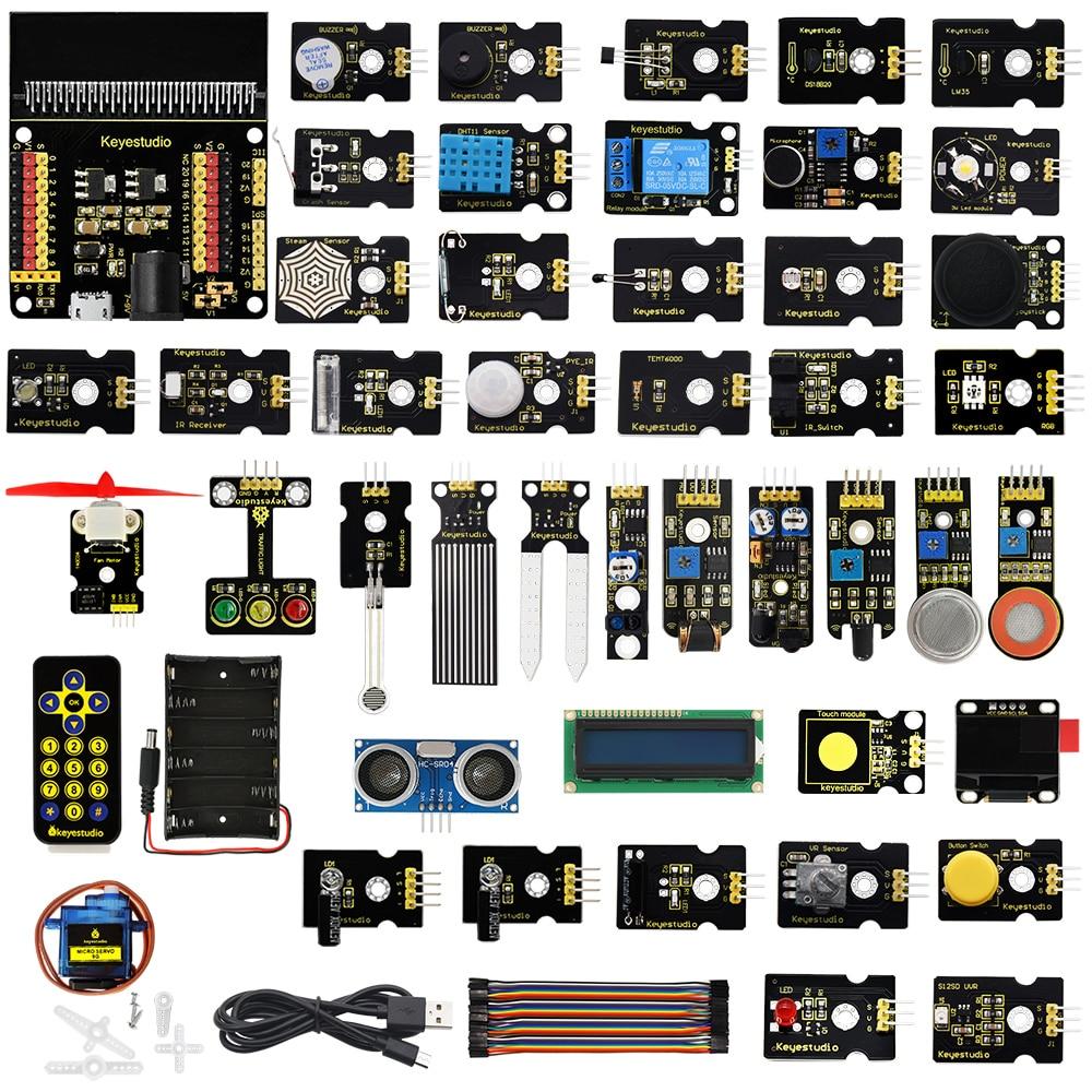 Keyestudio Micro bit 45 in 1 Sensor Starter Kit For BBC Micro:Bit Kit Programming Kit (Without Micro:Bit Board)