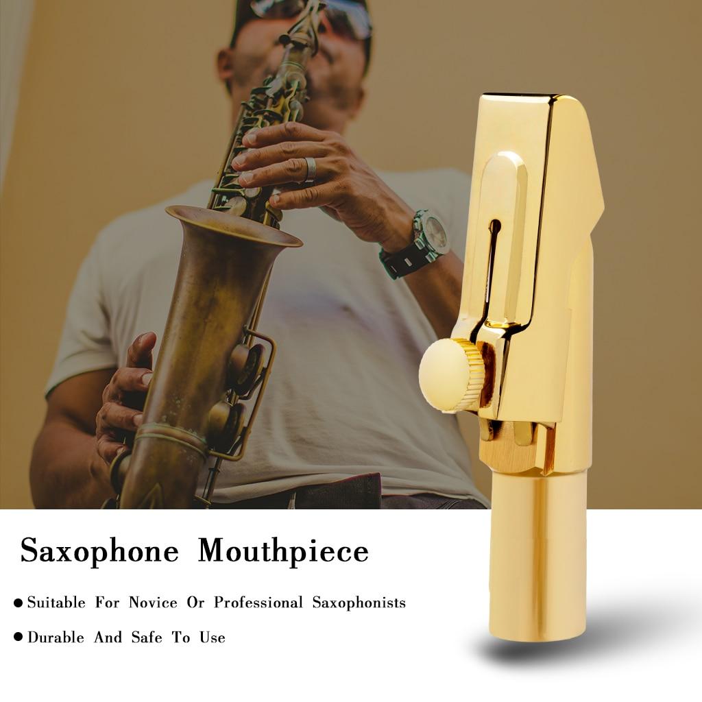 Baritone Saxophone Mouthpiece MTP Sax Gold Plated Sax Ligature Cap Size 5 6 7 8 9 Professional Sax Mouth Pieces Accessories enlarge