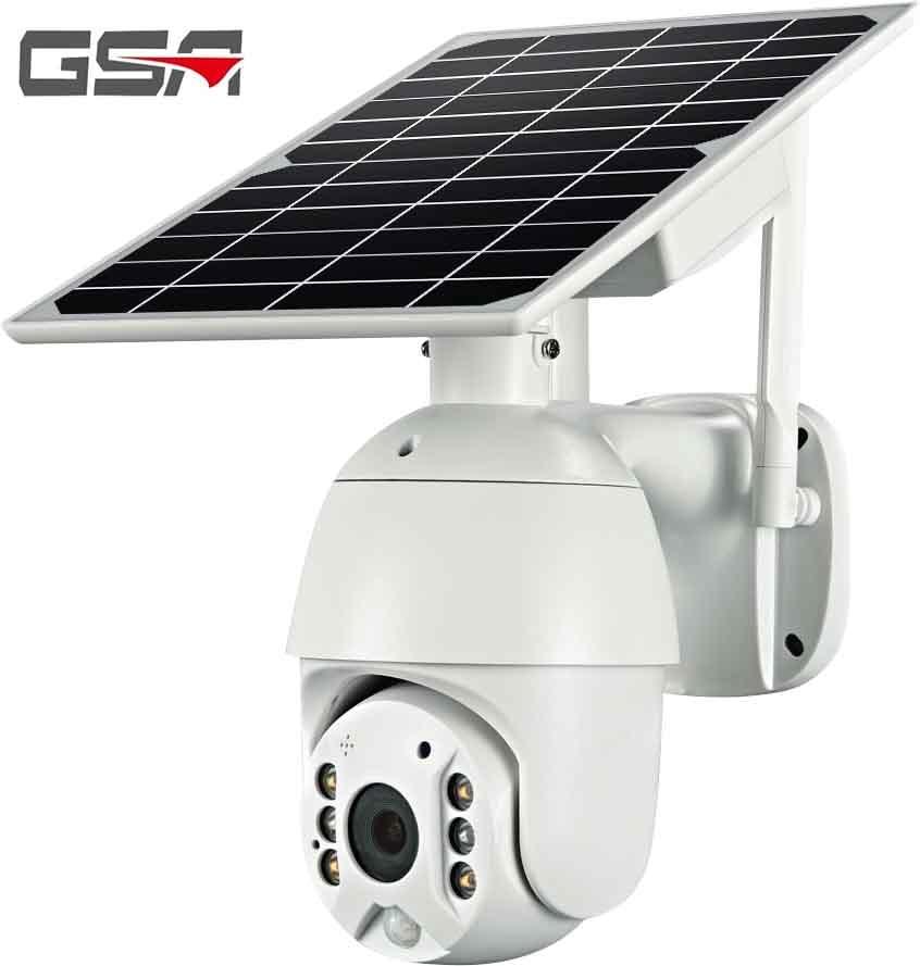 كاميرا واي فاي صغيرة 1080P تعمل بالطاقة الشمسية كاميرا مراقبة خارجية مقاومة للماء IP66 4G بطاقة SIM IP كاميرا تعمل بالطاقة الشمسية