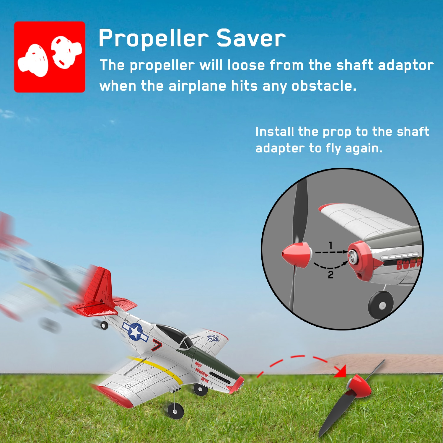 New P51-D RC Drone Electric Large Model Airplane 4Channel Glider Fixed Wing Stunt Airplane RC Aerobatics Aircraft Helicopter Toy enlarge