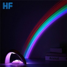 Amazing Colorful LED Rainbow Light Baby Kids Children Child Night Light Romantic Christmas Projector Lamp for Sleeping Bedroom