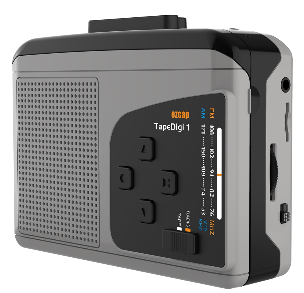مشغل كاسيت محمول مع راديو AM/FM ، كاسيت لتحويل MP3 حفظ في بطاقة SD الصغيرة ، لا حاجة الكمبيوتر