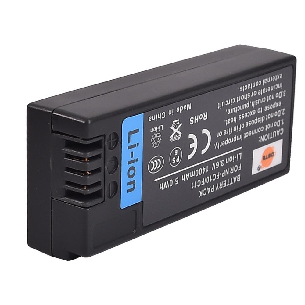 DSTE Bateria para Câmera Sony DSC-F77 NP-FC10 DSC-FX77 DSC-P2 DSC-P3 DSC-P5 DSC-P7 DSC-P8 Câmera