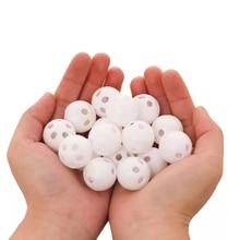 10pcs 24mm Squeaker Plastic Rattle Bell Balls Baby Toys DIY Rattle Beads Noise Maker Baby Nursing Br