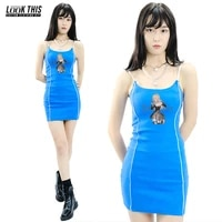 death note print y2k bodycon dress summer womens dress 2021 hollow out sexy sleeveless spaghetti strap beach midi dresses party