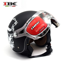 IBK Vintage Old School Motorbike Helmet Scooter Casco Casque Men/Women 3/4 Open-Face Cool Style matte Helmet IBK-K100