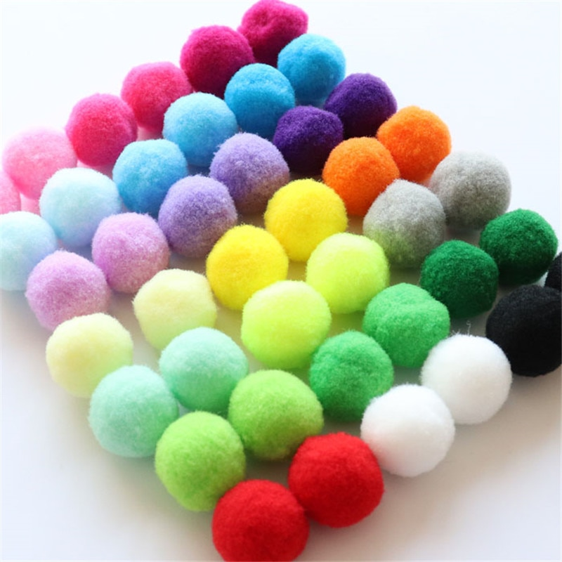 Fluffy Soft Pompom Plush Pom Poms Ball 8mm 10mm 15mm 20mm 25mm 30mm Pompones DIY Handmade Sewing Cra