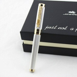 Jinhao 1200 Noblest Silver Dragon Carver 0.5mm NIB Fountain Pen Stationery School&Office Writing Pen