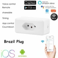 1016a tuya wifi smart socket brazil plug timing function voice control smart outlets works with alexa google assistant ifttt