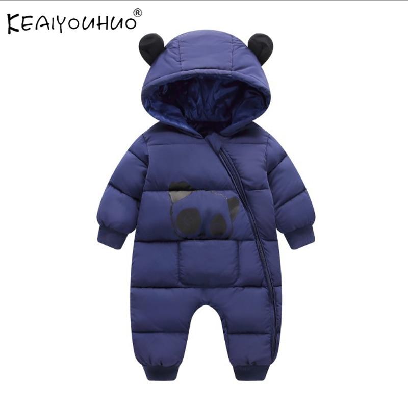 Macacão de inverno para o bebê menino casacos de manga longa casacos com capuz bebê menina macacões infantil casaco recém-nascido outerwear para roupas do bebê