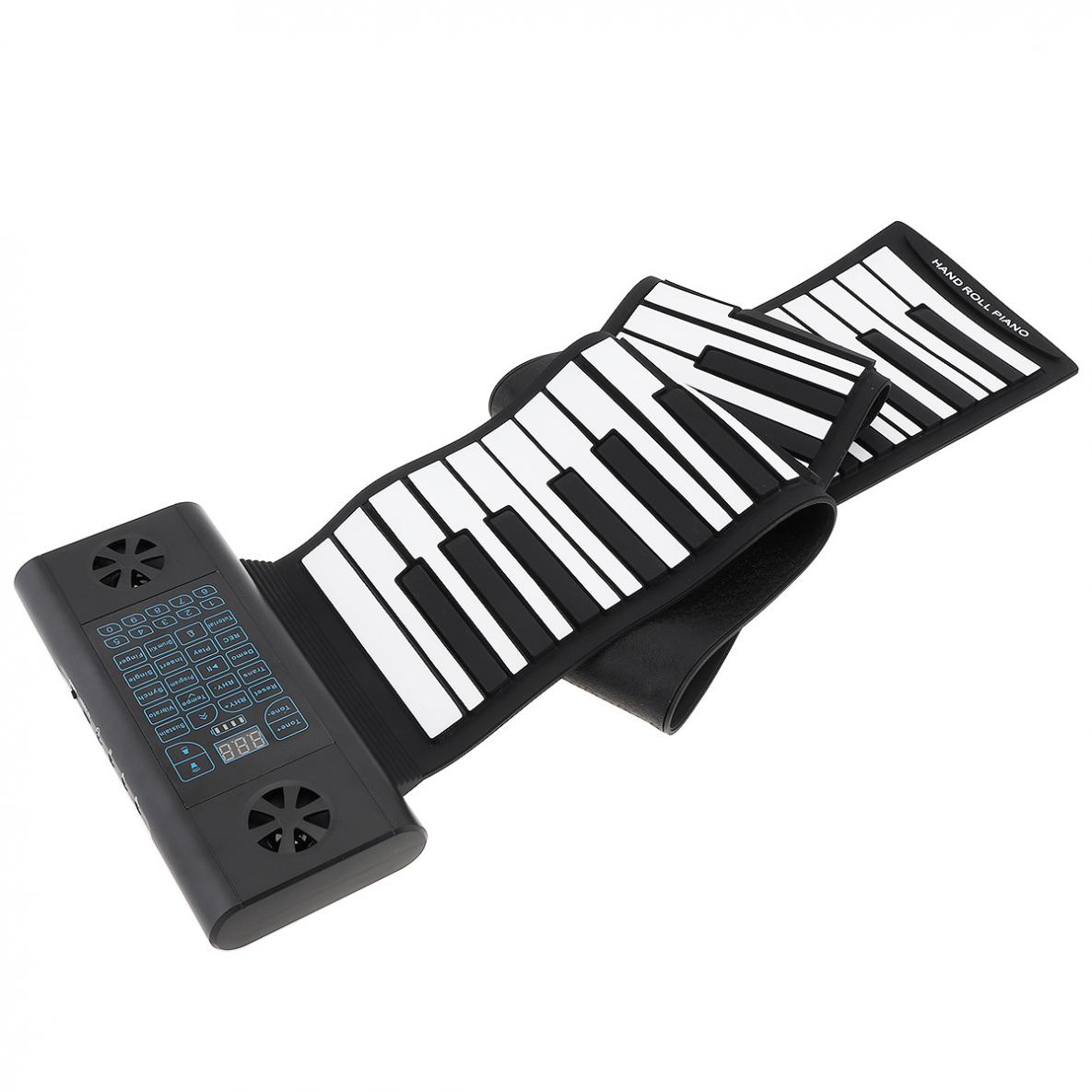 88 Keys MIDI Roll Up Piano Rechargeable Electronic Silicone Flexible Keyboard Organ Built-in 2 Speakers with Accessories enlarge