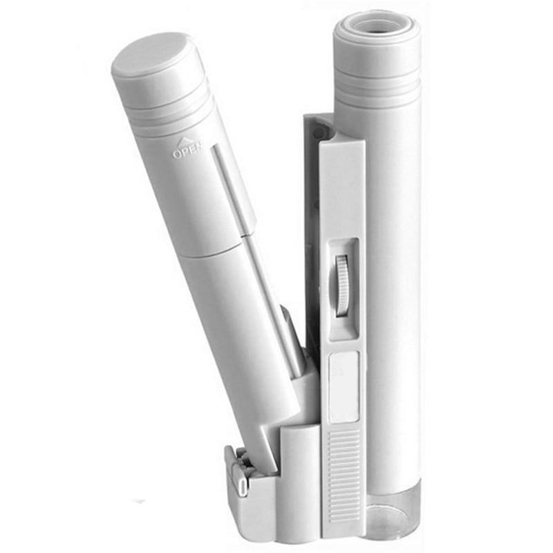 Microscopio de bolsillo ajustable de 150X, lectura de lupa con iluminación con lupa a escala, lupa de cristal, herramienta de aumento con lámpara de luz Led