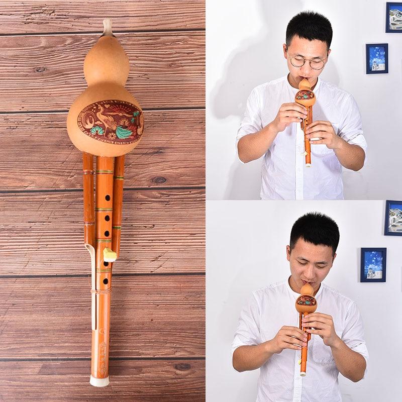 AliExpress - Chinese Handmade Hulusi Brown Bamboo Gourd Cucurbit Flute Ethnic C Key For Beginner Music Lovers Musical Instrument