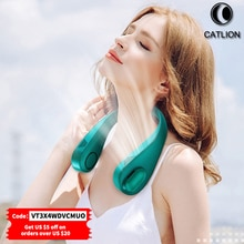 CATLION Mini Bladeless Fan Portable Neck Fans 3000mAh USB Rechargeable Mute Sports for Home Outdoor
