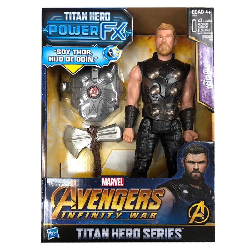 Figuras de acción de Marvel, vengadores Infinity War, Iron Man, Capitán América, Spider Man, Black Widow, Thor, juguete para niños, 30cm