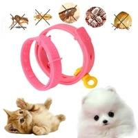 dog cat collar anti flea ticks mosquitoes adjustable pet cat pink collars 90 days long term protection yhsmt pet accesseries