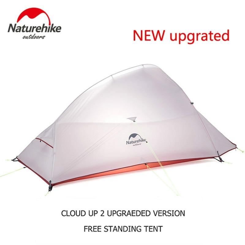 Naturehike-خيمة التخييم محسنة Cloud Up Serie 123, خيمة المشي التنزه في الهواء الطلق للماء 20D 210T النايلون على ظهره خيمة مع حصيرة مجانية