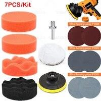 3 car sponge polishing pad polishing disc buffer waxing adapter drill kits for headlight repair wheel polisher refurbish tools