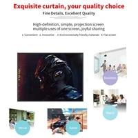Ecran de Projection pliable 16 9  60 72 84 100 120 pouces  cinema a domicile W0YE
