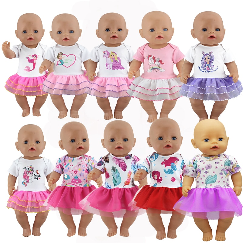 New Sport Dress Doll Clothes Fit 17 inch 43cm Doll Clothes Born Baby Doll Clothes For Baby Birthday