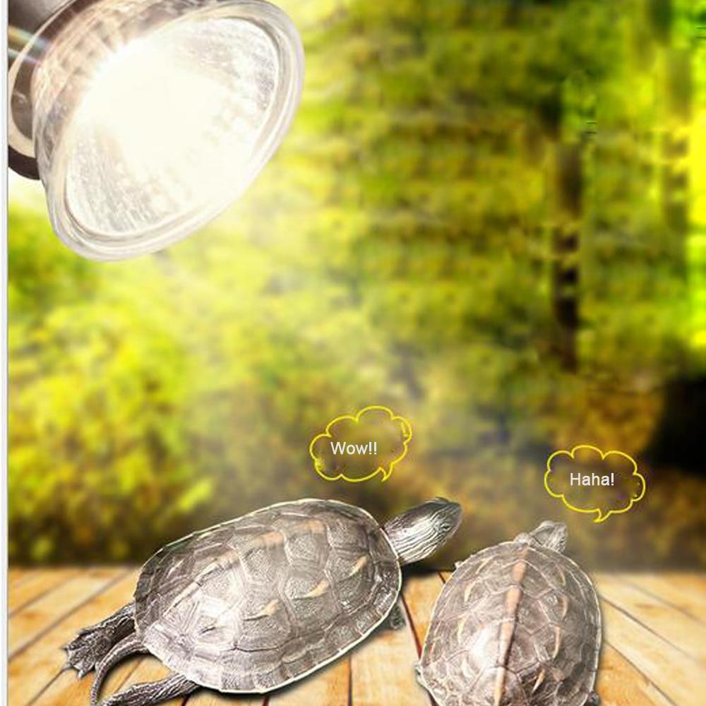 25/50 / 75W UVA + UVB 3.0 reptil bulb turtle basking UV light bulbs - Produk haiwan peliharaan - Foto 2