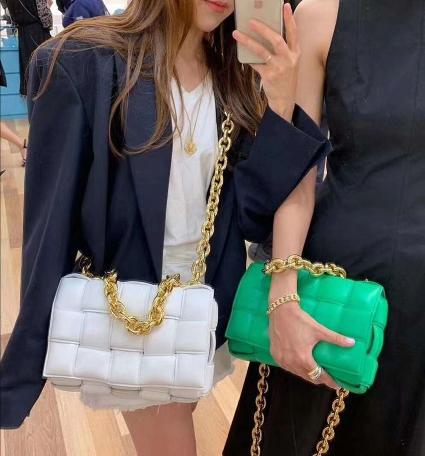 Weave Small PU Leather Crossbody Bags For Women 2020 Trending Shoulder Bags Women's Branded Chain Handbags and Purses