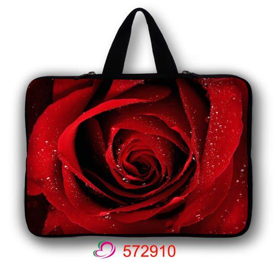 "Rosa vermelha Saco Do Computador 13 ""Notebook Sleeve Case Capa Bag Para 13.3"" Apple MacBook Air, Pro Laptop"