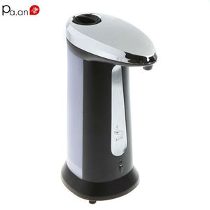 ABS Chrome Automatic Soap Dispenser  Infrared Sensing Foam Soap Pump Music Reminder  Bathroom Accessories In Brushed Nickel
