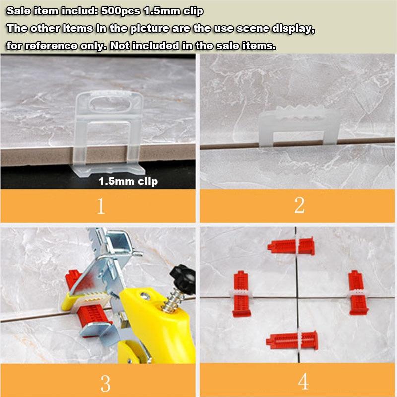 500 vnt. 1,5 mm plytelių išlyginimo sistemos išlyginimo tarpikliai - Statybos įrankiai - Nuotrauka 3
