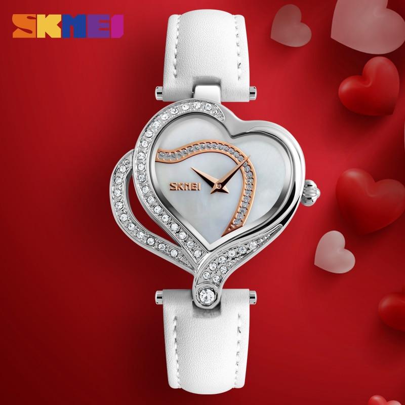 SKMEI Fashion Quartz Women Watches Creative Diamond-studded Ladies Wristwatch Top Brand Luxury Watch Women Relogio Montre Femme enlarge