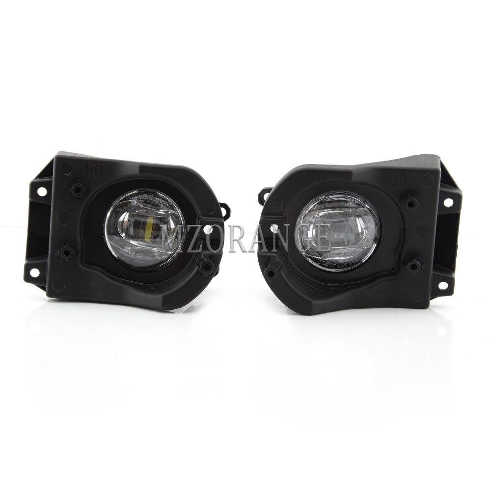 LED مصابيح الضباب الجمعية لتويوتا كورولا الصليب 2020 الجبهة الضباب مجموعة مصابيح تعديل خط أضواء drl