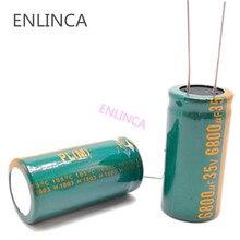Condensador electrolítico de aluminio H096, 35v, 6800UF, tamaño 18x35, 6800UF35V, 20%, 1 unids/lote
