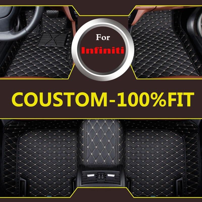 Alfombrillas para el suelo de coche 3d para Infiniti Q50 G25 G35 G37 Qx70 Fx Fx35 Fx37 estilo de coche personalizable