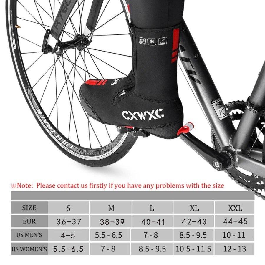 CXWXC Thick Warm Winter Cycling Overshoes Neoprene Waterproof Windproof Bike Shoe Covers Men Women MTB Road Bicycle Booties Case