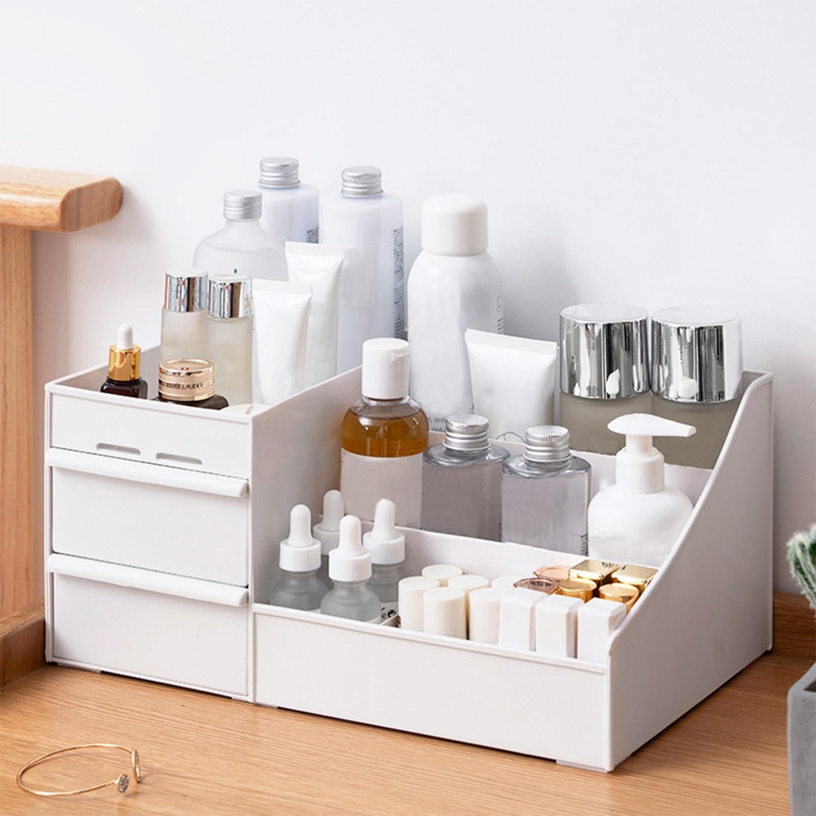 45 # ماكياج درج منظم مستحضرات التجميل الحاويات سطح المكتب أشتات صندوق تخزين