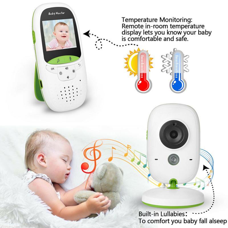 New Wireless Baby Monitor Camera Digital LCD Night Vision 2-Way Talk Video IR LED Temperature Monitor Infant Baby Camera