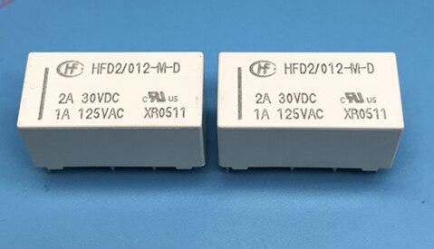 10 unids/lote HFD2-012-M HFD2-012-M-D HFD2/012-M-D relé de 12V 12V