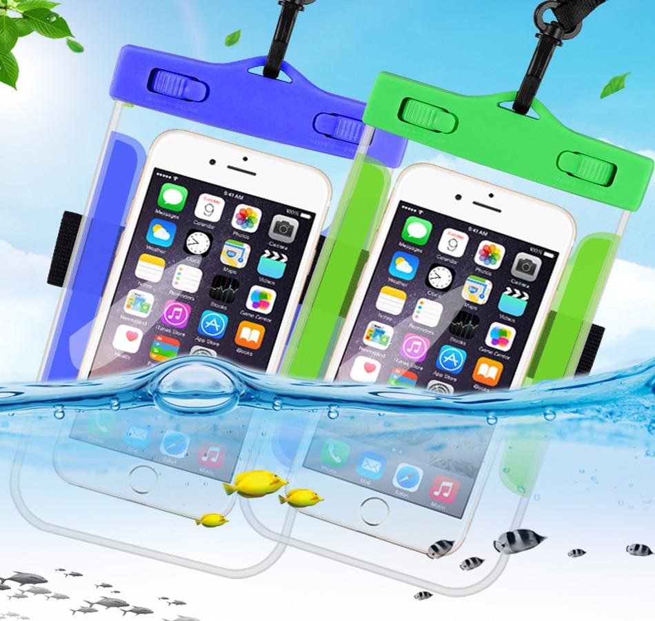 "Funda impermeable para teléfono inteligente bolsa para teléfono 6,3 ""funda luminosa subacuática para iPhone 11 Pro Max X S 7 Huawei Xiaomi Samsung"