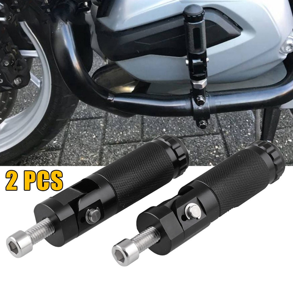 2 uds CNC negro aluminio Universal motocicleta Motor bicicleta plegable reposapiés pedales conjunto de piezas