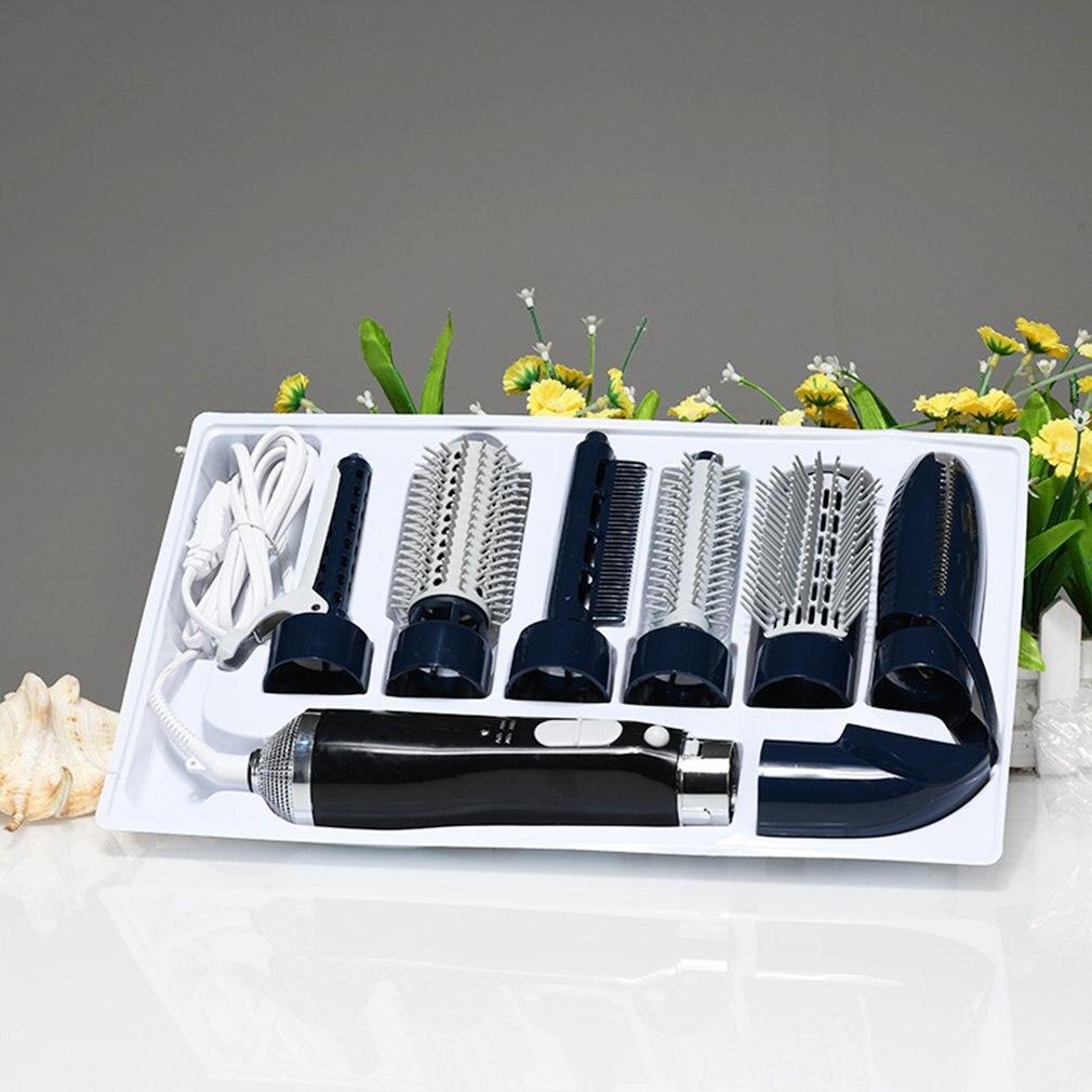 7-in-1 متعددة الوظائف قابلة للشحن المهنية سلبي أيون مجفف الشعر مع مشط الشباك العصا مع 7 المرفقات