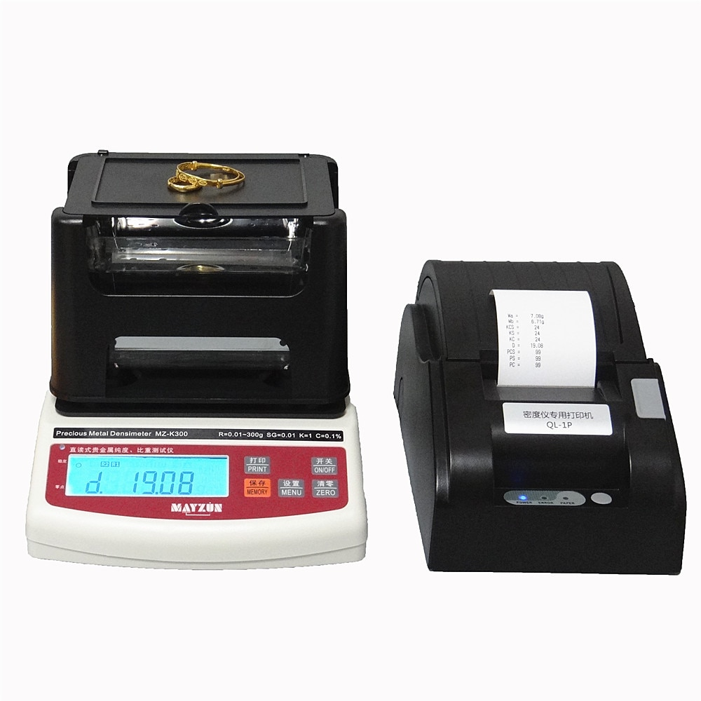 3 Years Warranty Electronic Gold Jewellery Karat Purity and Density Tester enlarge