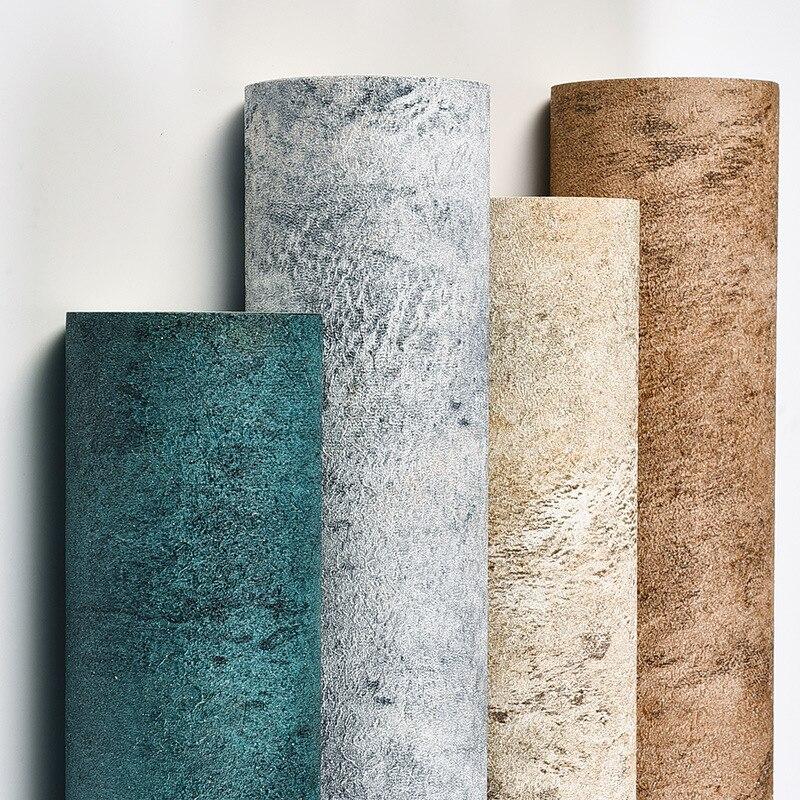 Modern Simple Nordic Ins Style Cement Grey Wallpaper Plain Bedroom Living Room Diatom Mud Industrial