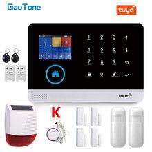 GauTone maison intelligente WiFi GSM système dalarme pour la maison avec capteur de mouvement sans fil sirène Vision nocturne IP caméra Tuya Support Alexa