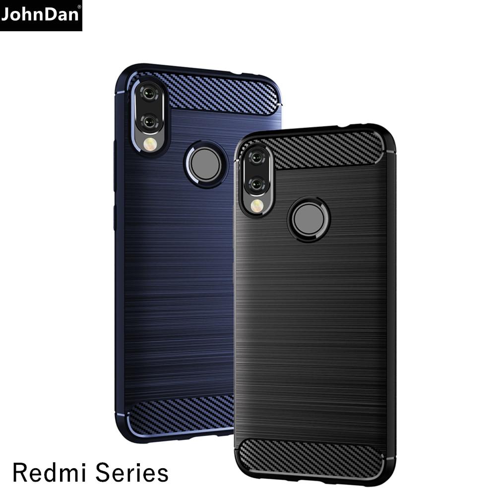 Funda de silicona suave cepillada de fibra de carbono TPU para Xiaomi Redmi Note 8 8T 9S 7 5 6 9 Pro Max 7A 4X 4 Plus 8A 6A 5A Go S2