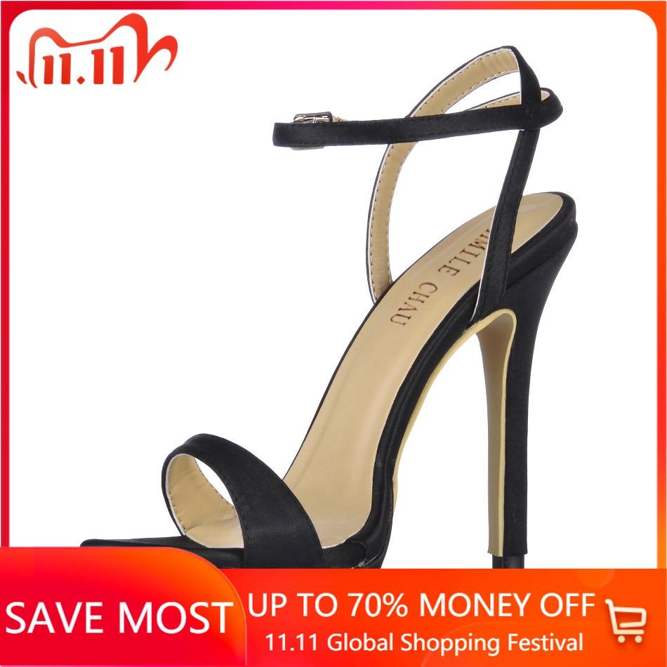 Sandalias de tacón Alto sexys Para Mujer, Zapatos de tacón de Aguja con correa en el tobillo, Para fiesta nupcial, YJ0640ASL-a3