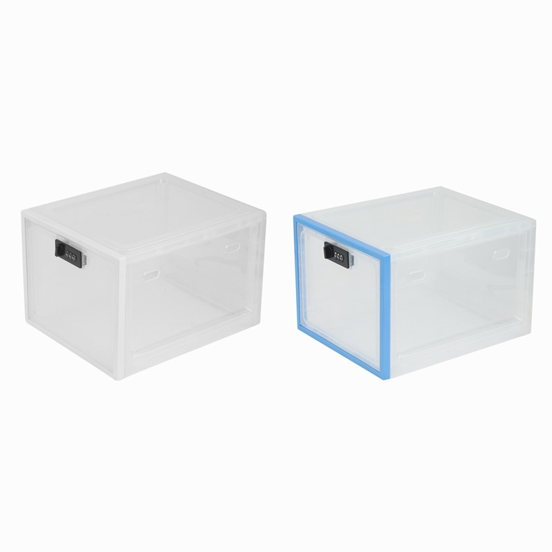 ثلاجة طعام صندوق تخزين شفاف مع قفل بكلمة مرور صندوق دواء موبايل هاتف لوحي كلمة السر