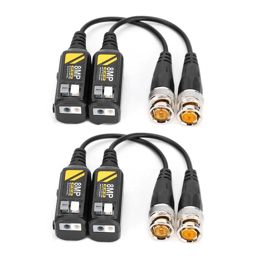 Видео балун 2 пары CVI/AHD/TVI/CVBS BNC Мужской передатчик с витой парой кабель поддерживает несколько бальзамов