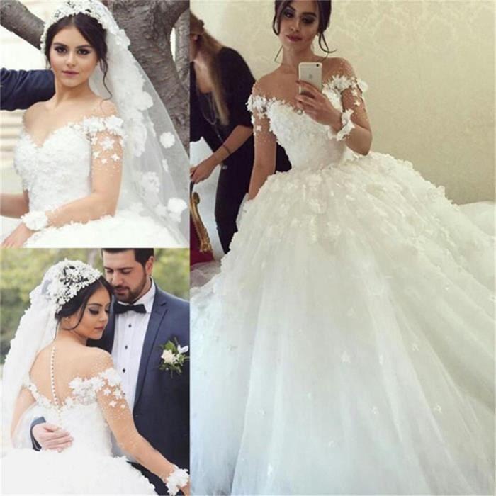 Princesa vestido de baile vestido de casamento brilhante fora do ombro applique rendas até voltar vestidos de noiva novia 2020