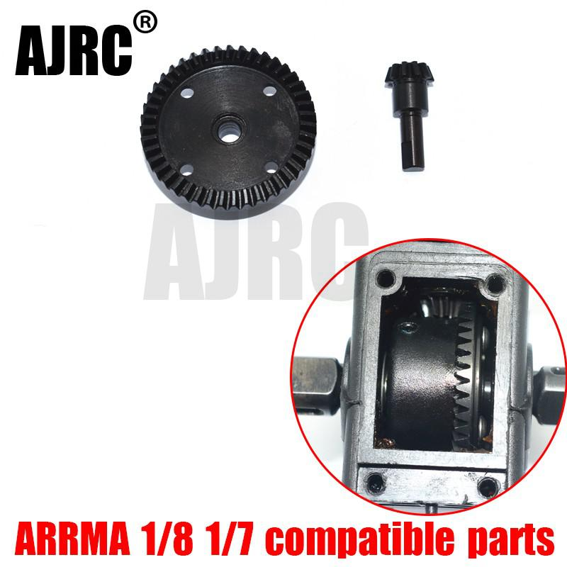 ARRMA 1/8 1/7 MOJAVE/TYPHON/SENTON/KRATON/OUTCAST/TALION is suitable for 45# differential drive size helical gear AR310497/498 рычаги подвески rpm for the kraton talion